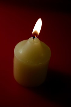 Candle with flame - Holy Spirit