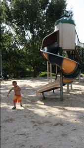 Kaleb at the playground