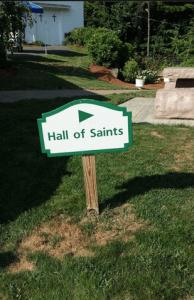 Hall of Saints sign