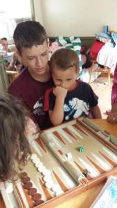 Backgammon and the boys