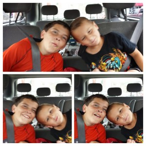 Kaleb and George being goofy!