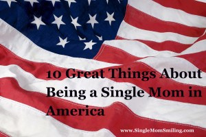 America Flag Backdrop - 10 Great Things About Being a Single Mom in America