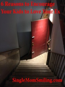 Reasons to Encourage Kids To Love Your Ex - An Open Door on a flight of stairs