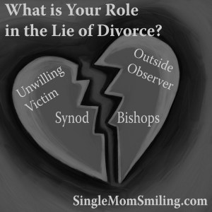 Lies Divorce - Broken Heart - Synod Bishops, victims, friends & family
