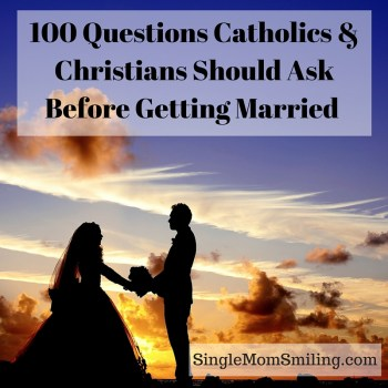 100 Questions Catholics Christians Marriage - Sunset silhouette bride & groom