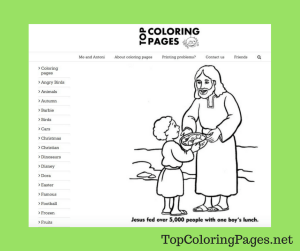 TopColoringPages.net Christian Screen Shot