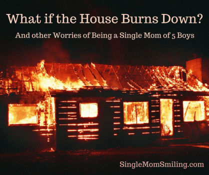 house burning down