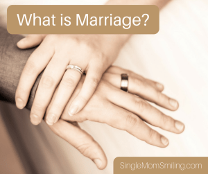 Marriage - Man's hand & Woman's hand with wedding rings on