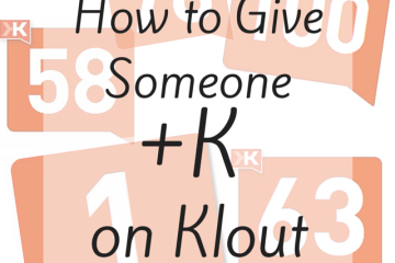 how to give +K Klout