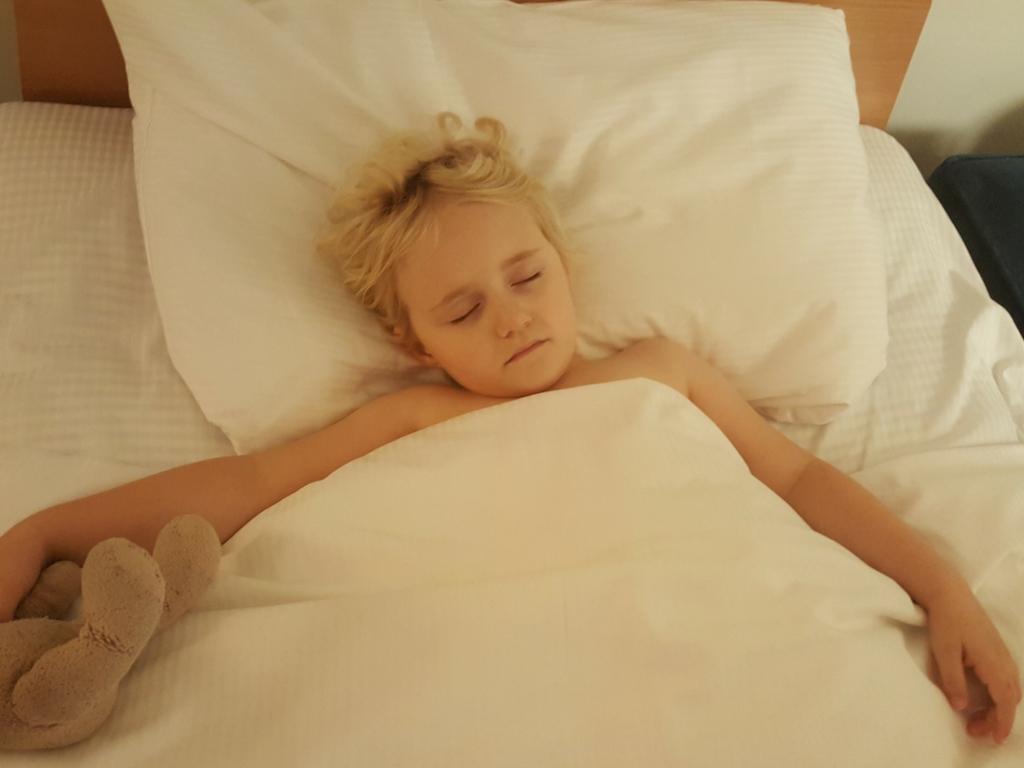 asleep at the Waldorf Hilton