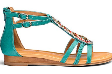 heavenly soles turquoise sandals