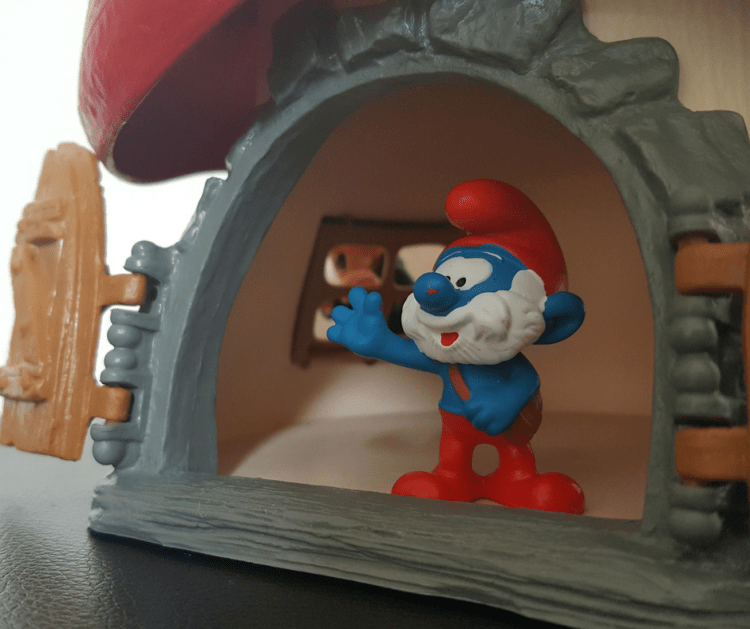 Papa Smurf in his house