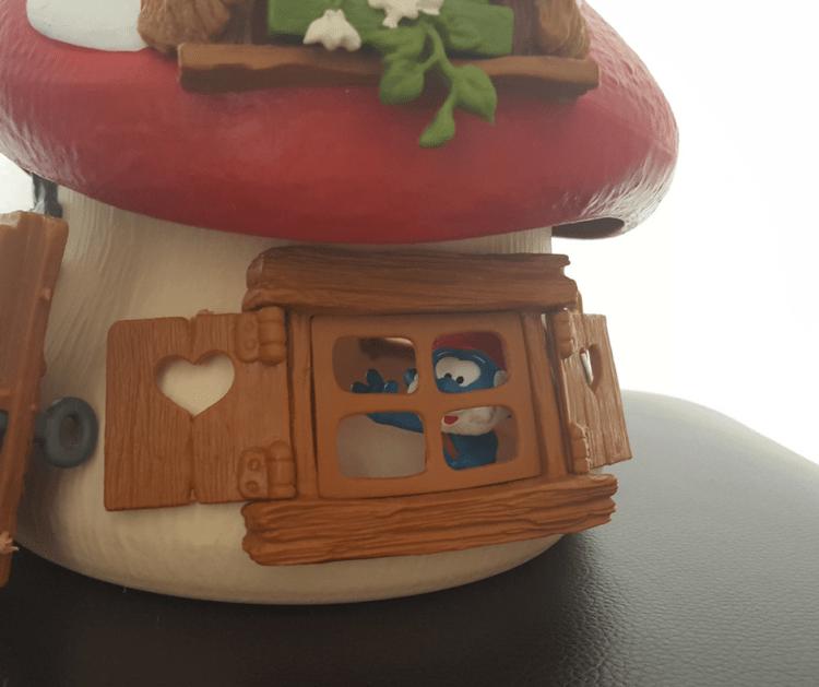 papa smurf window toadstool house