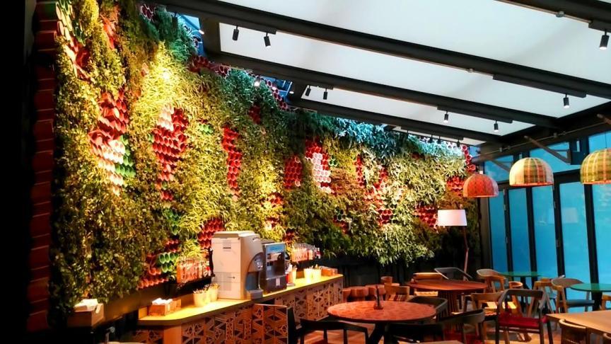 Jardín vertical en Londres