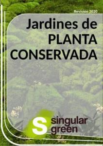 Catálogo con trabajos de jardin vertical de planta preservada