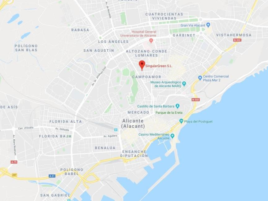 Curso de Jardines Verticales en Alicante - Localización