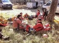 Izkušeni reševalci hranijo energijo