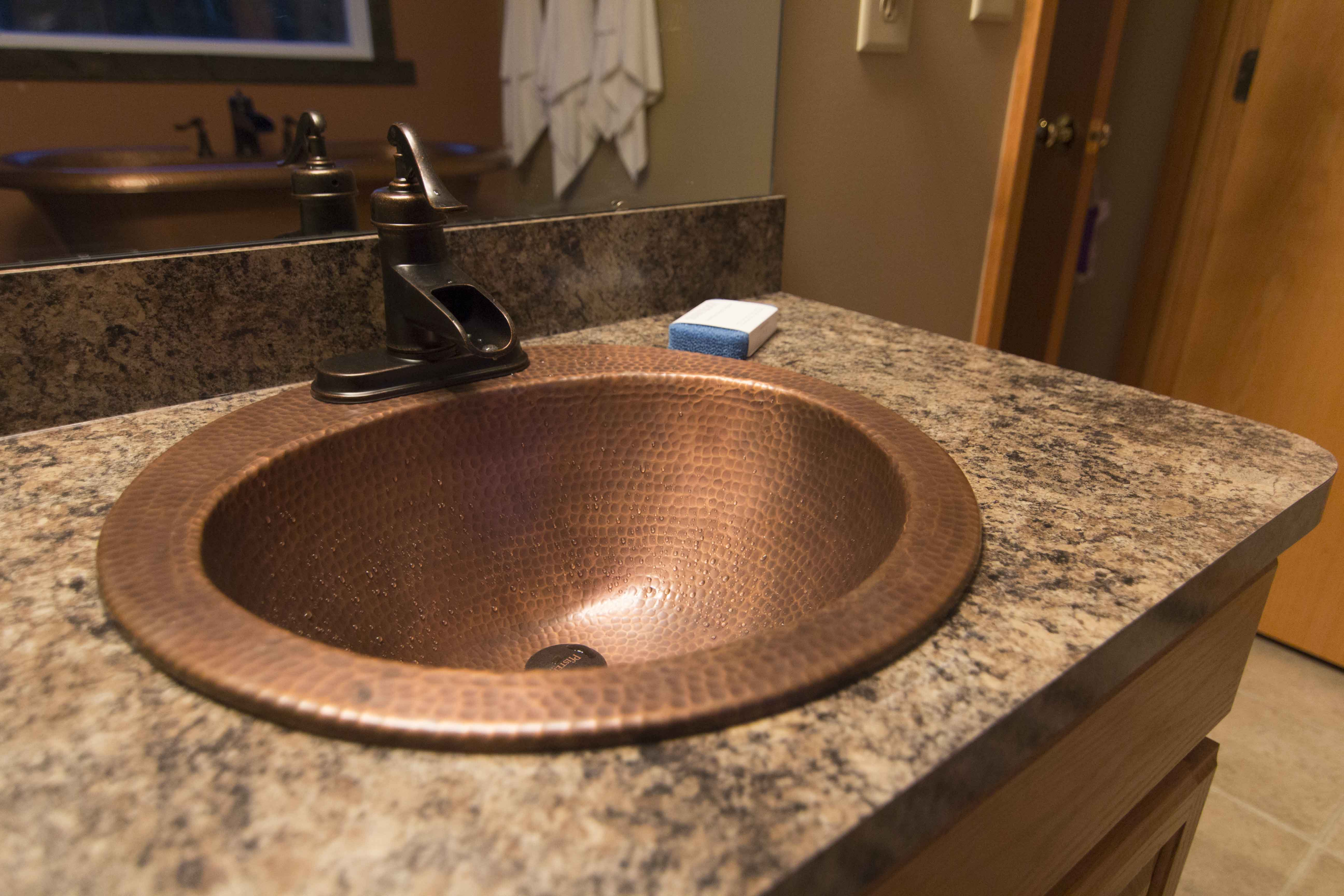 How To Replace A Copper Bathroom Sink The Bell Drop In Copper Sink