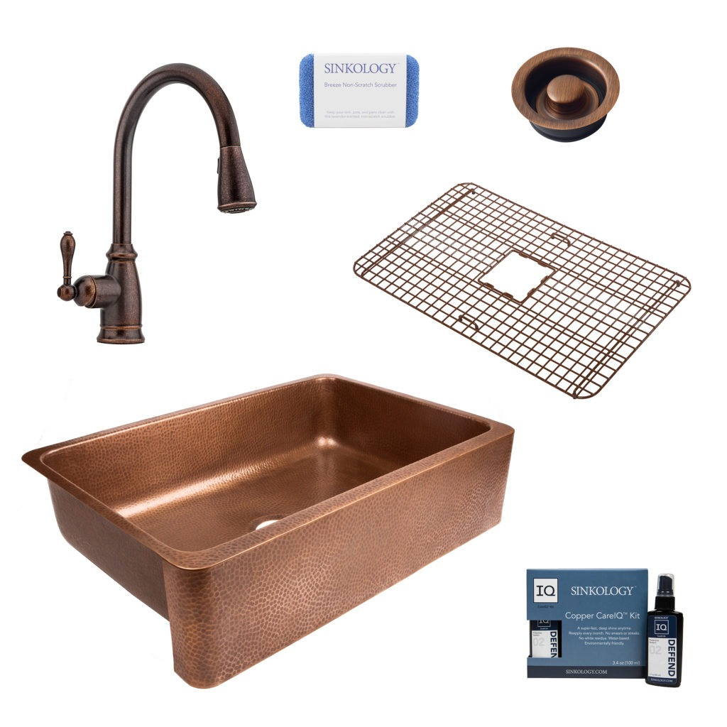 lange all in one farmhouse sink and