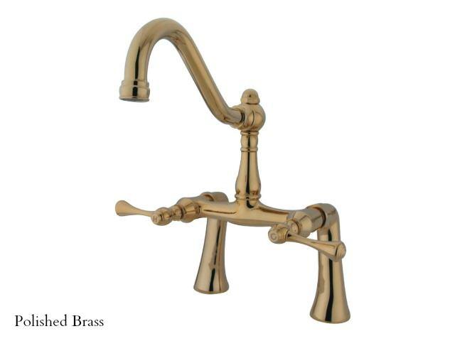 kingston brass restoration clawfoot tub bridge faucet