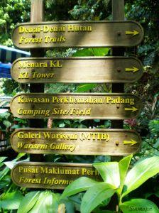 Cartel en Bukit Nanas, KL Kuala Lumpur - ¿Qué ver y qué hacer?