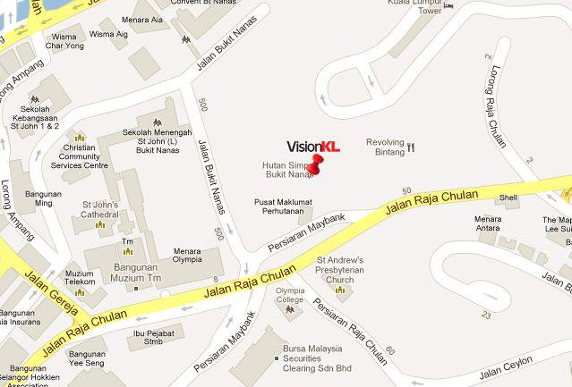 Mapa Bukit Nanas Qué ver y qué hacer en Kuala Lumpur Malasia