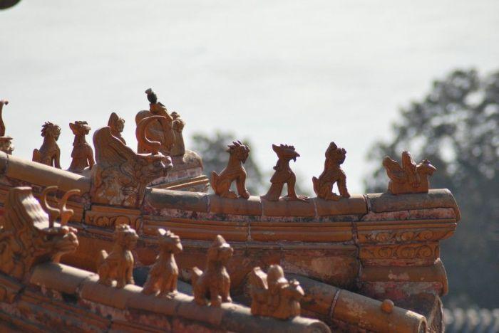 Detalles en el ado de una casa en el Palacio de Verano en China - Pekin