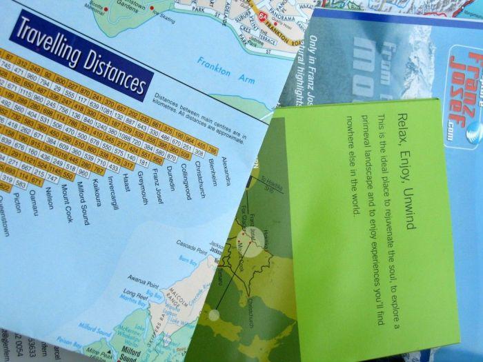 mapas y documentos de viaje