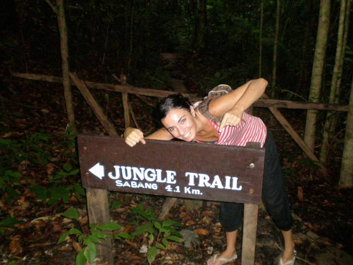 Monkey Trail en Sabang, Filipinas