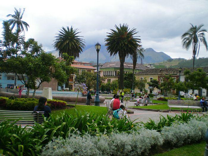 Plaza en Otavalo