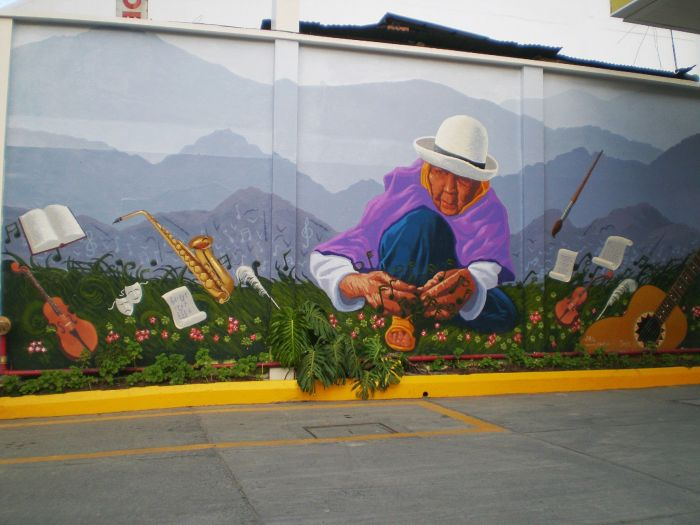 Grafiti en las calles de Loja