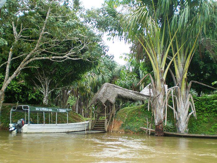Entrada al Ecolodge Pacaya Samiria Amazonas Perú