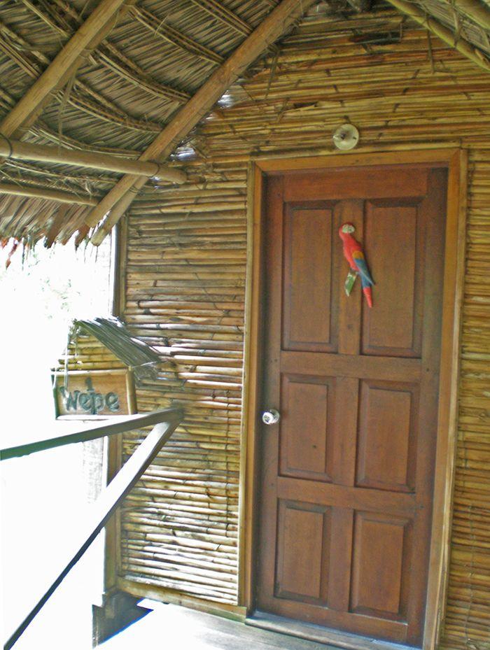 Entrada a mi cabaña Pacaya Samiria Amazonas Perú