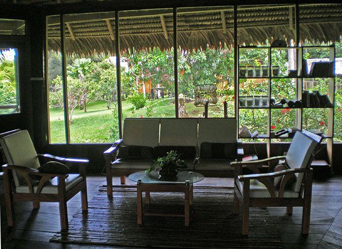 Una de las zonas de relax y descanso en el ecolodge