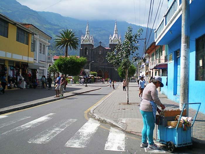 Calles de Baños de Agua Santa, Ecuador
