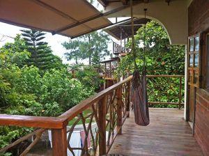 Vistas desde el balcón de mi habitación - Qué ver en Olón Ecuador