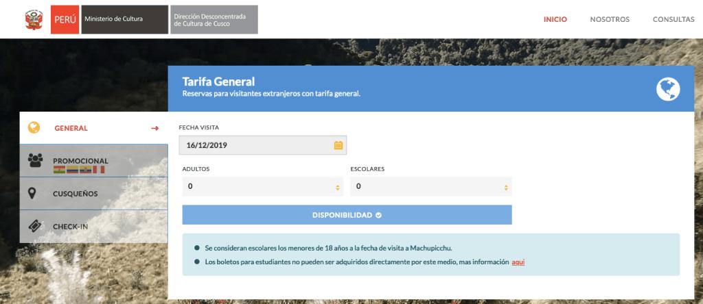 Como comprar la entrada online a Machu Picchu