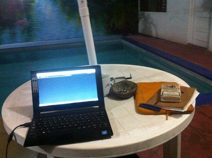 Trabajando en un hotel de Perú