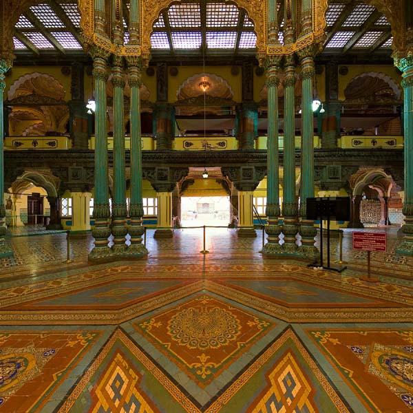 Sala de matrimonio - Donde se festejaban bodas y fiestas reales. Foto: Official Website of Mysore Palace