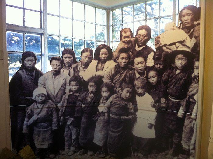 Imágenes de los exiliados tibetanos en el Museo del Tíbet