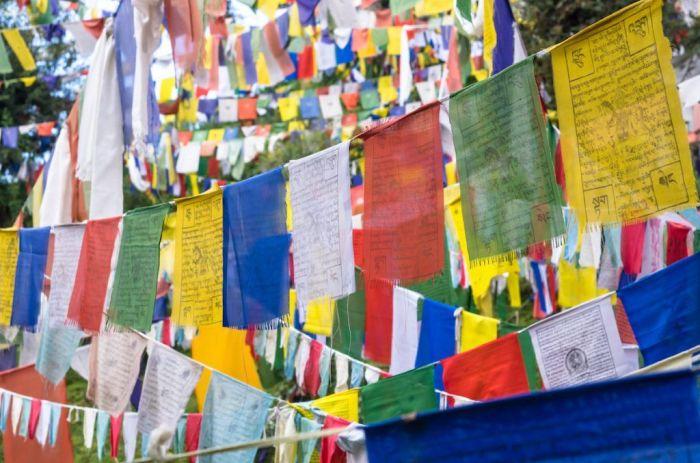 Banderines tibetanos via Shutterstock