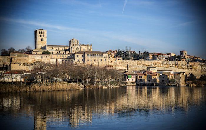 Vistas de Zamora al otro lado del río