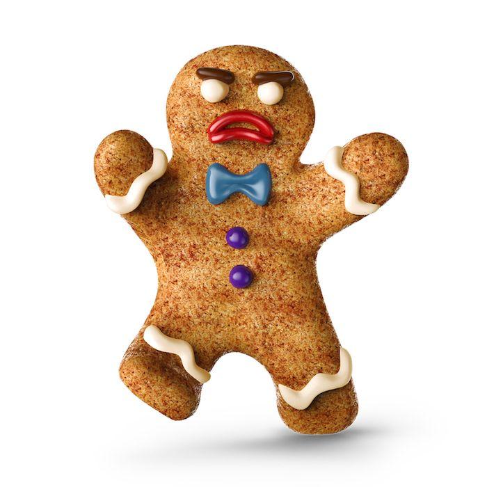 Muñeco de pan de jengibre vía Shutterstock