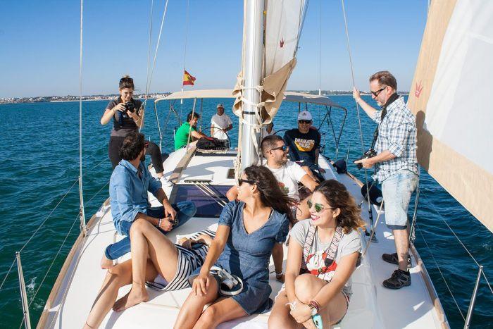 en velero por la bahía de cádiz