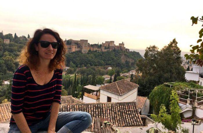 Foto tomada en Sacromonte con vistas a La Alhambra, Granada