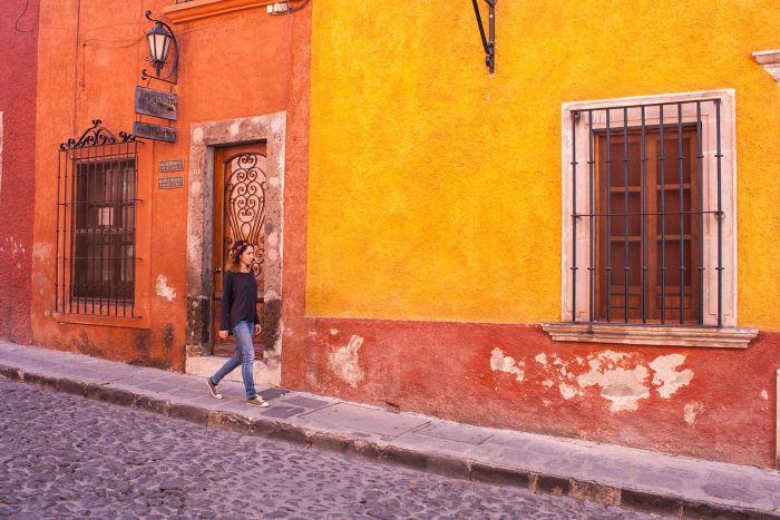 Calles en San Miguel de Allende, México
