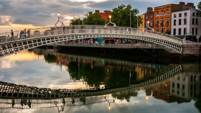 Penny Bridge en Dublín