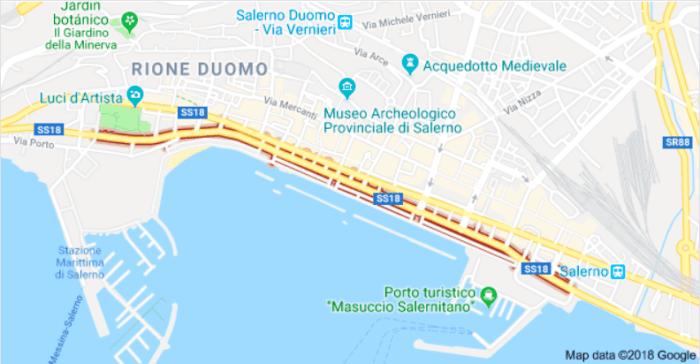 Mapa del Lungomare Trieste