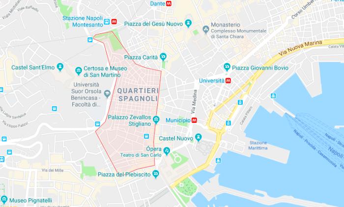 QUÉ VER EN NÁPOLES: el barrio español