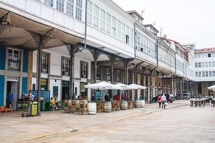 Qué ver en Avilés: la plaza del mercado
